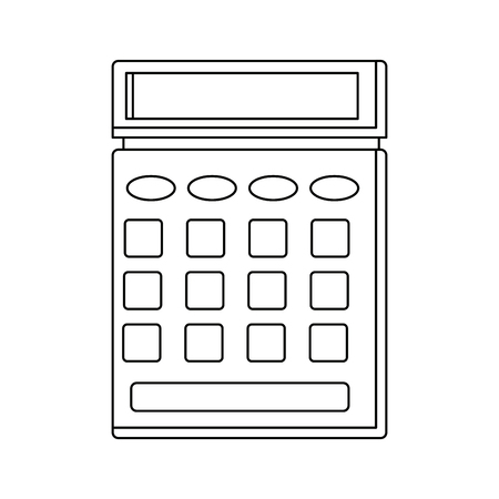 A calculator icon business concept with mathematics symbol vector illustration