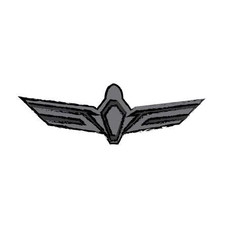 Aviation emblem badge military and civil aviation icon vector illustration Illustration