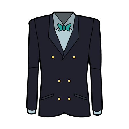 tuxedo with bow tie elegant fashion suit vector illustration Stock Vector - 96142627