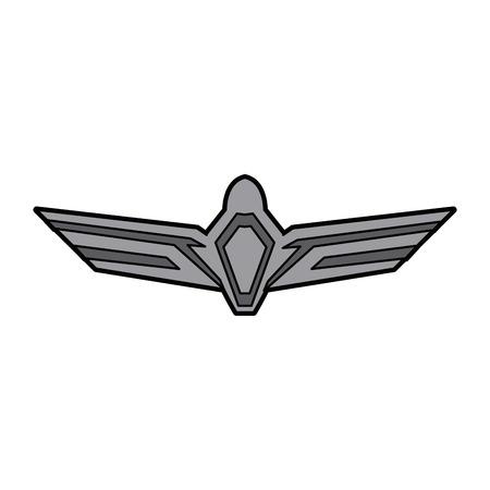 aviation emblem badge military icon vector illustration