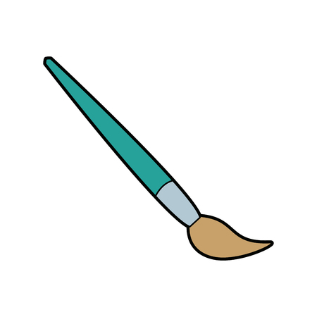 artistic brush wooden handle instrument icon vector illustration Illusztráció