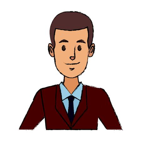 Business man suit portrait manager employee or entrepreneur person.