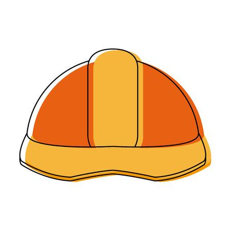 Industrial helmet safety icon vector illustration