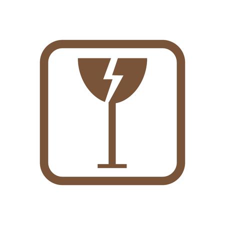 Fragile icon packaging symbol concept premium quality graphic design vector illustration Illustration