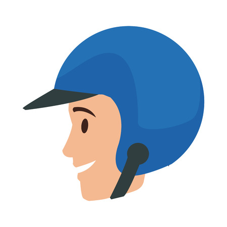 worker portrait of delivery man with helmet vector illustration