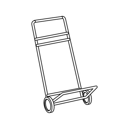 hand cart cargo transportation delivery equipment vector illustration Illustration