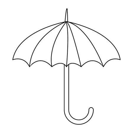 keep dry symbol protect cargo from excessive humidity vector illustration