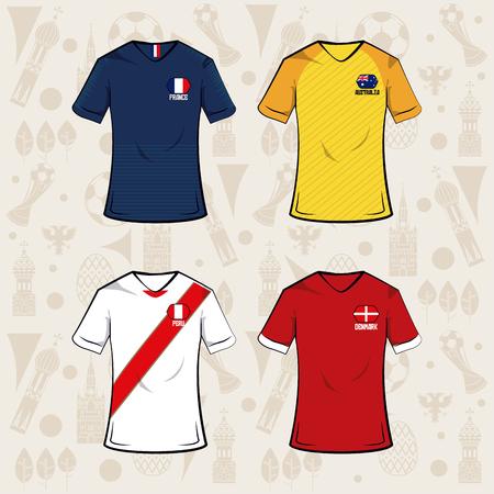 Football sport wear tshirt 2018 icon vector illustration graphic design