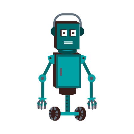 Funny robot cartoon vector illustration graphic design