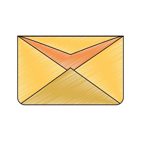 Envelope open symbol vector illustration graphic design