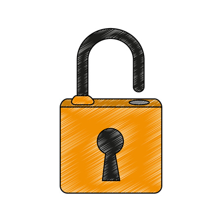 Padlock security symbol vector illustration graphic design