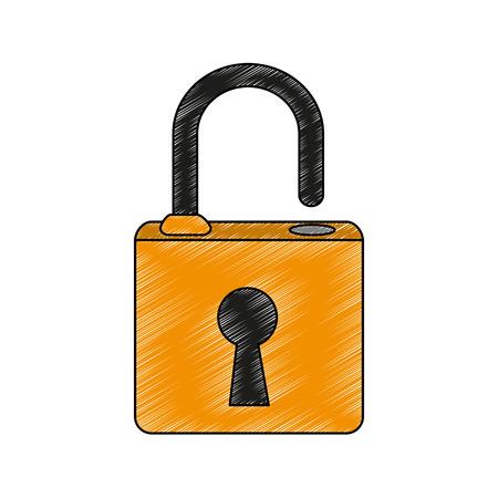 Padlock security symbol vector illustration graphic design