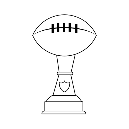 Football trophy cup vector illustration graphic design