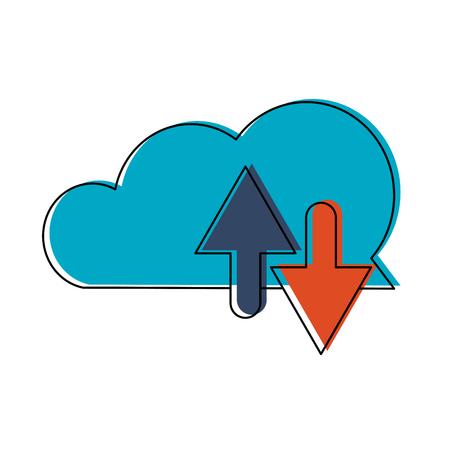 Cloud computing technology vector illustration graphic design