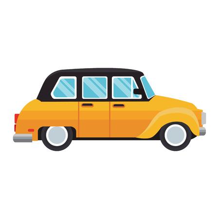 Taxi retro vehicle vector illustration graphic design