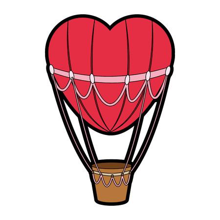 Cute hot air balloon vector illustration graphic design. Иллюстрация