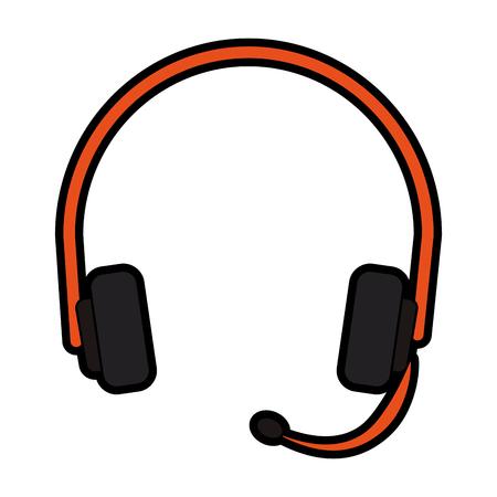 Headset call center symbol vector illustration graphic design Illustration