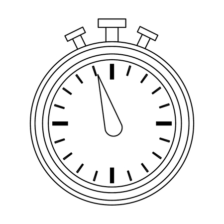 Vintage chronometer symbol vector illustration graphic design.