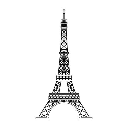 Torre Eiffel símbolo ilustración vectorial diseño gráfico