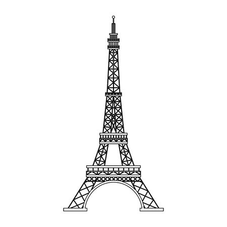 Van de de torensymbool van Eiffel vector de illustratie grafisch ontwerp