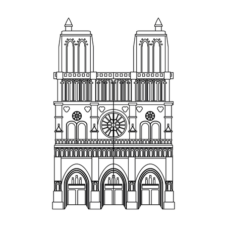Gothic church building vector illustration graphic design