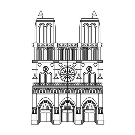 Gothic church building vector illustration graphic design