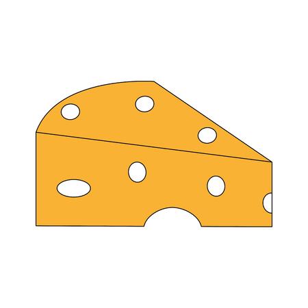 Cheese dairy cartoon vector illustration graphic design.