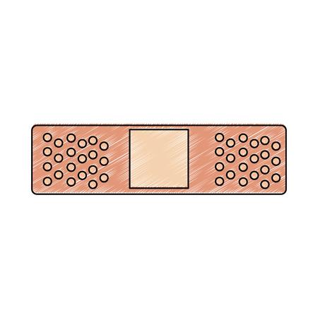 Medical bandage symbol vector illustration graphic design