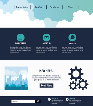 Business Website template vector illustration graphic design.
