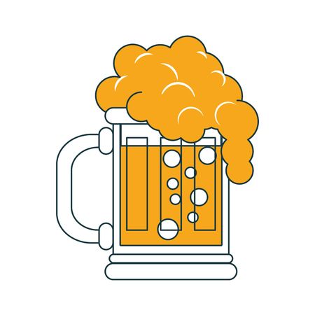 Beer glass cup vector illustration graphic design