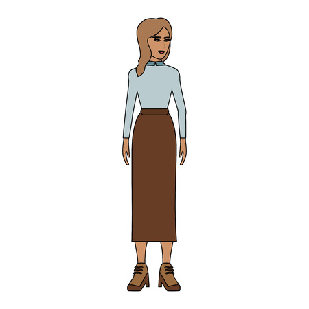 Fashion young woman vector illustration graphic design