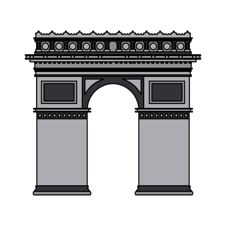 Arch of triumph vector illustration graphic design