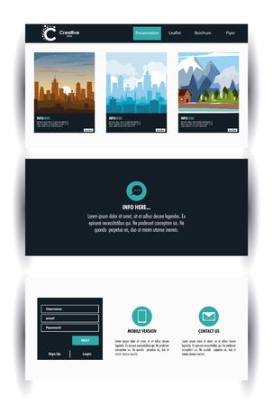 City brochure infographic vector illustration graphic design Illustration