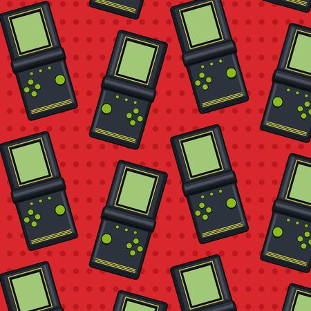 Pop art tetris pattern background vector illustration graphic design