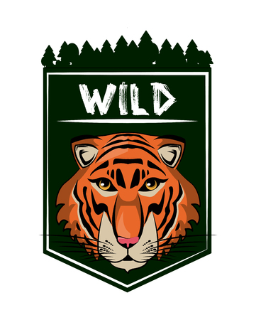 Wild tiger print for t shirt vector illustration clothing design