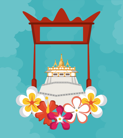 Songkran festival card vector illustration graphic design