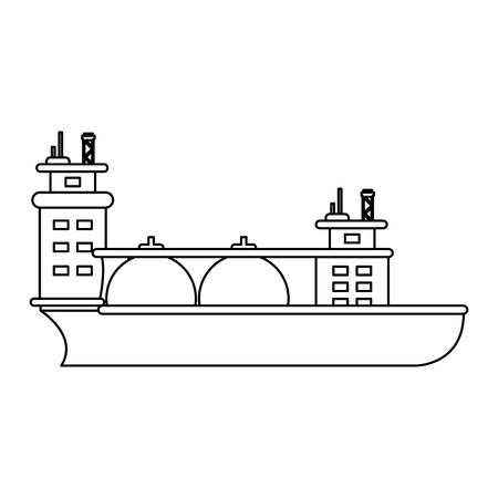 Natural gas ship vector illustration graphic design
