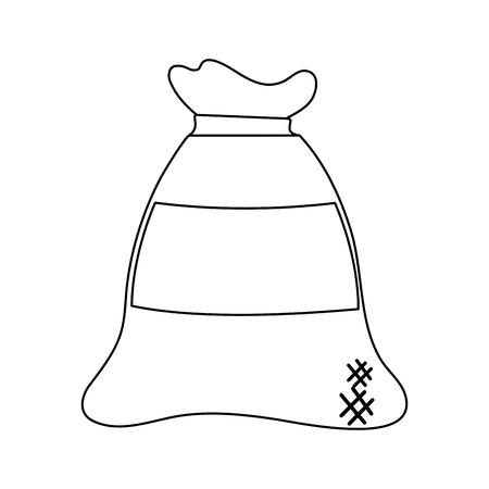 Wheat flour sack vector illustration graphic design 일러스트