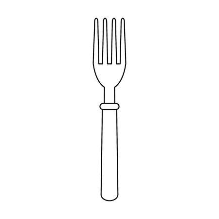 Fork cutlery utensil vector illustration graphic design
