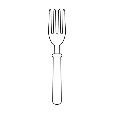 Fork cutlery utensil vector illustration graphic design