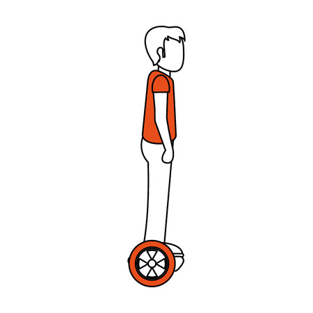 Man on hoverboard vector illustration graphic design 일러스트