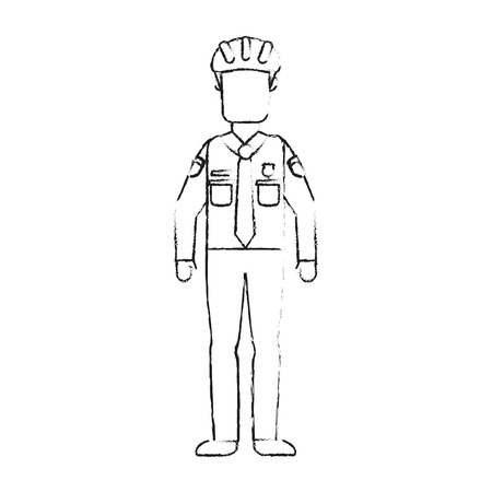 Police officer avatar vector illustration graphic design