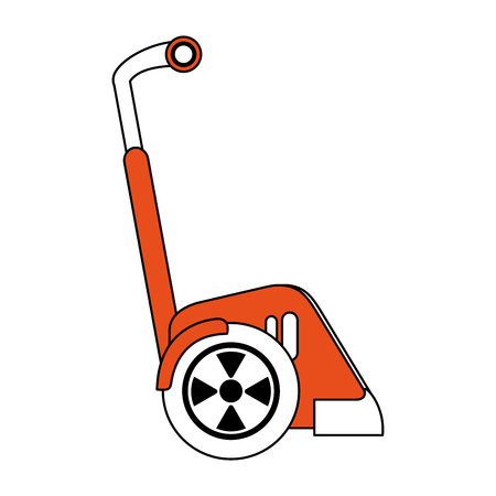 Two wheels electric scooter vector illustration graphic design