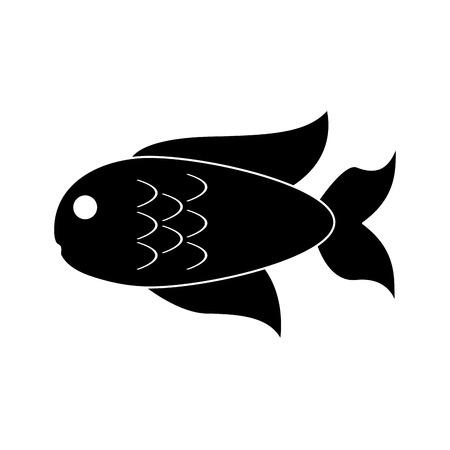 Fish seafood symbol vector illustration graphic design Çizim