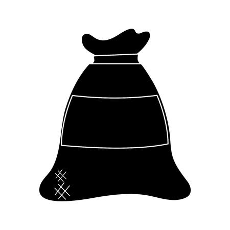 小麦粉袋ベクトルイラストグラフィックデザイン