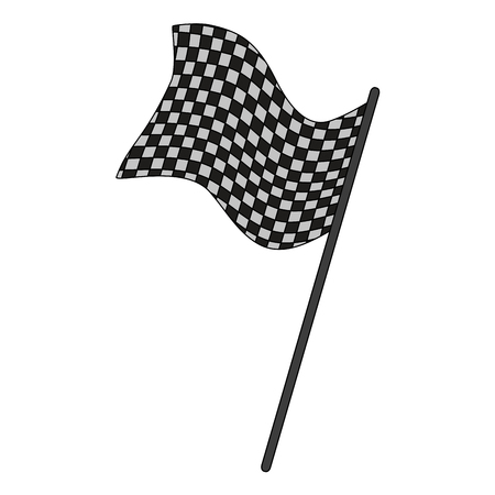 Racing flag isolated icon vector illustration graphic design