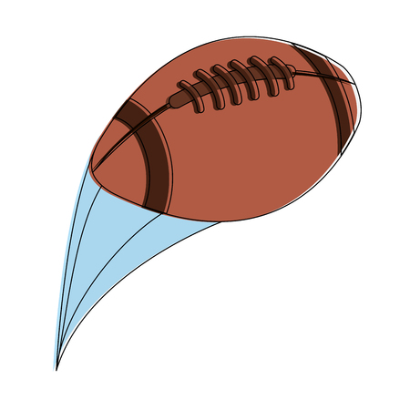 American football ball vector illustration graphic design Ilustração