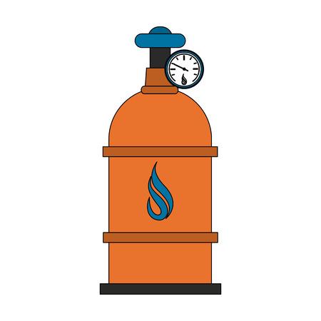 Natural gas cylinder vector illustration graphic design