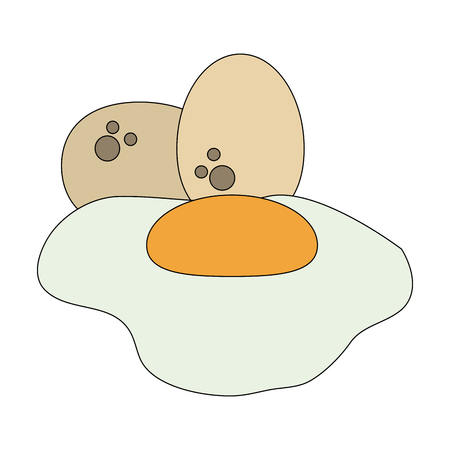 Sunny egg fried vector illustration graphic design Vectores