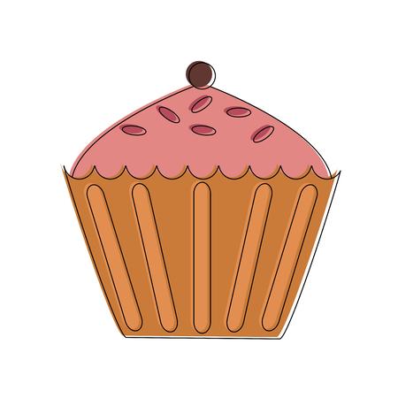 Cupcake sweet dessert vector illustration graphic design Ilustracja